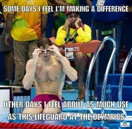 life guard at olympics